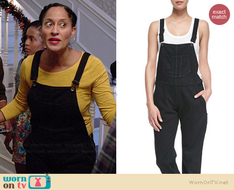 Rag & Bone Racerback Overalls worn by Tracee Ellis Ross on Black-ish