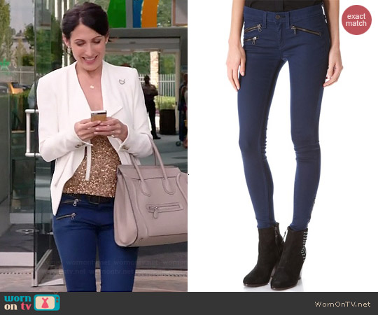 Rag & Bone RBW 23 Zipper Jeans worn by Lisa Edelstein on GG2D