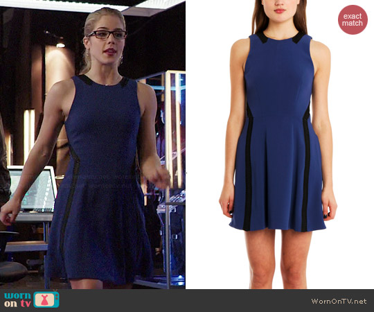 Rag & Bone Renard Dress in Blue worn by Emily Bett Rickards on Arrow