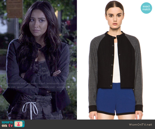 Rag & Bone Shelley Baseball Jacket worn by Emily Fields on PLL