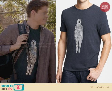 Rag & Bone Spaceman Graphic Tee worn by Sean Berdy on Switched at Birth