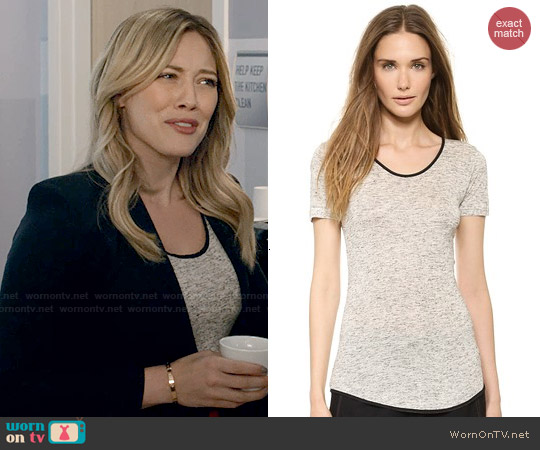 Rag & Bone Spine Tee worn by Hilary Duff on Younger