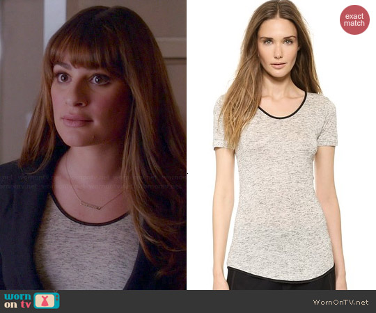 Rag & Bone Spine Tee worn by Lea Michele on Glee