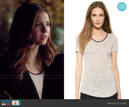 Rag & Bone Spine Tee worn by Nina Dobrev on The Vampire Diaries
