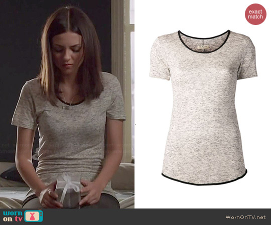Rag & Bone Spine Tee worn by Victoria Justice on Eye Candy