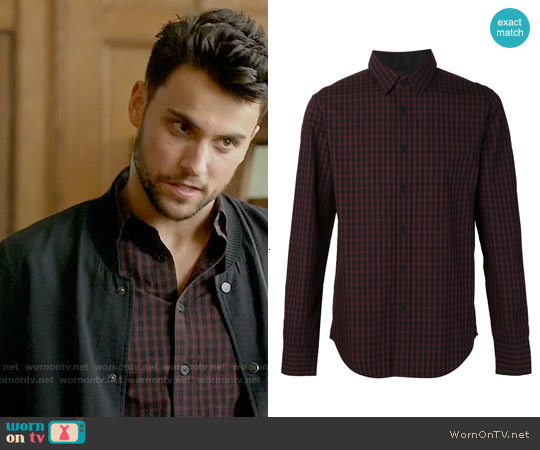 Rag & Bone The Stock Shirt worn by Jack Falahee on HTGAWM