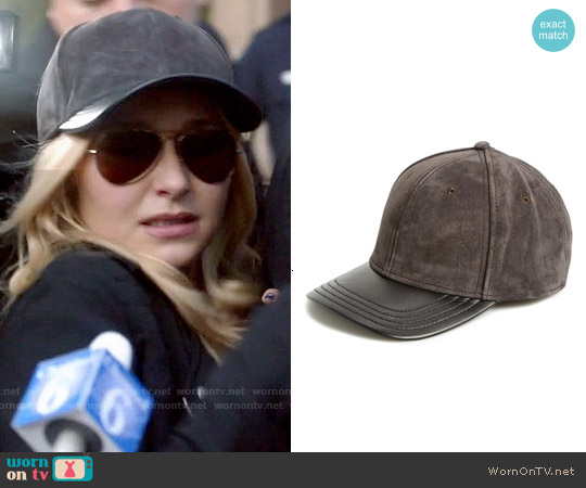 Rag & Bone Suede & Leather Baseball Cap worn by Juliette Barnes on Nashville