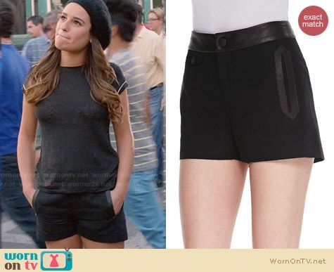 Rag & Bone Tatiana Shorts worn by Lea Michele on Glee