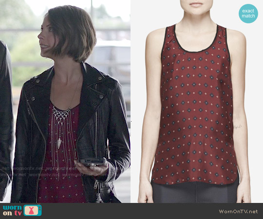 Rag & Bone Teddy Tank worn by Willa Holland on Arrow