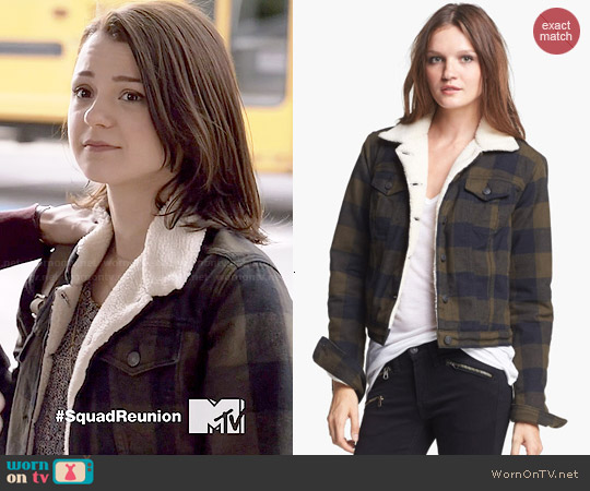 Rag & Bone The Fleece Jacket worn by Kathryn Prescott on Finding Carter