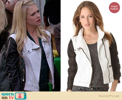 Rag & Bone The Moto Jacket worn by Melissa Joan Hart on Melissa & Joey