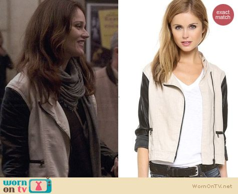 Rag & Bone The Moto Jacket worn by Robin Tunney on The Mentalist
