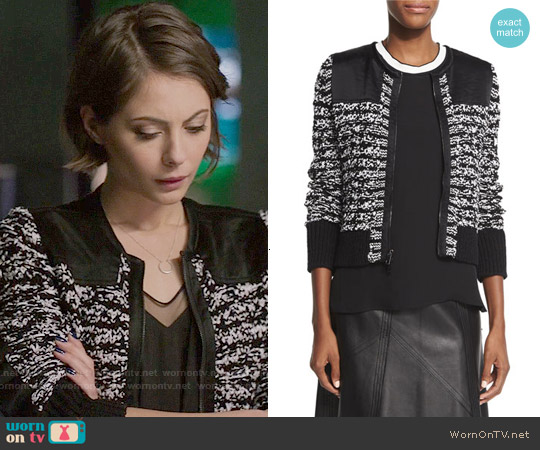 Rag & Bone Viola Jacket worn by Willa Holland on Arrow