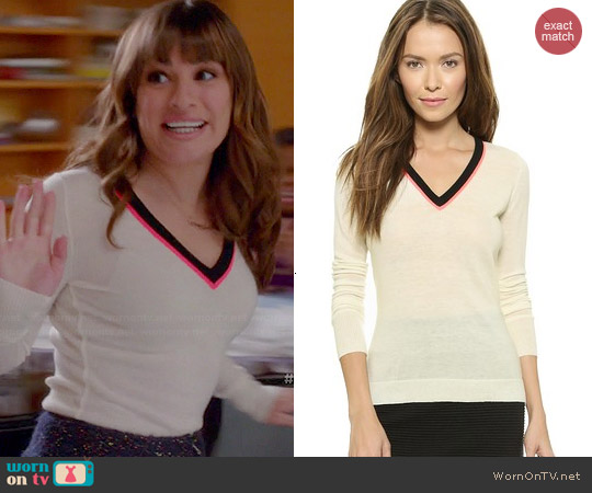 Rag & Bone Vivian Sweater worn by Rachel Berry on Glee