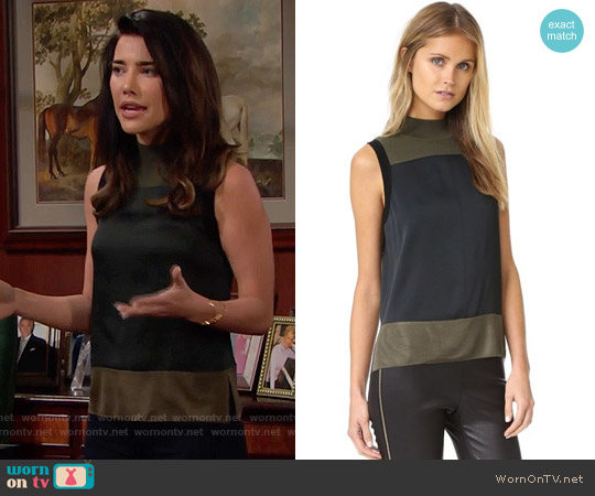 Rag & Bone Vivienne Top worn by Jacqueline MacInnes Wood on The Bold & the Beautiful