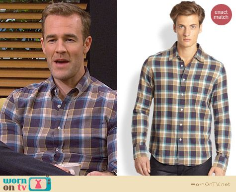 Rag & Bone Yokohama Shirt worn by James Van Der Beek on FWBL