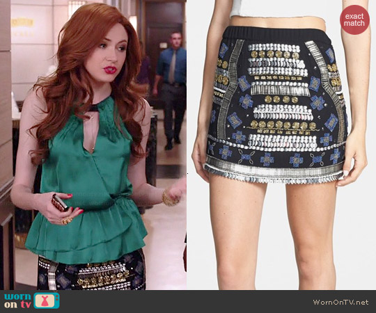Raga Beaded Miniskirt worn by Karen Gillan on Selfie