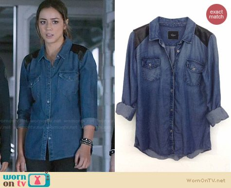 Rails Ashlyn Denim Shirt worn by Chloe Bennett on Agents of SHIELD
