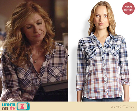 Rails Ashton Ombre Plaid Shirt worn by Connie Britton on Nashville