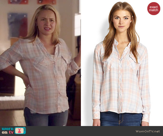 Rails Carmen Shirt in Peach worn by Hayden Panettiere on Nashville