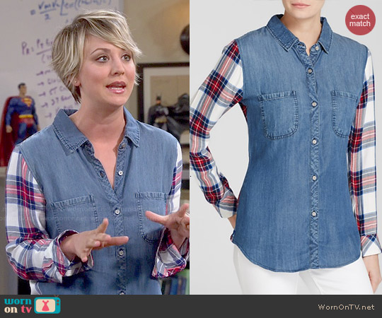 Rails Harper Shirt worn by Kaley Cuoco on The Big Bang Theory