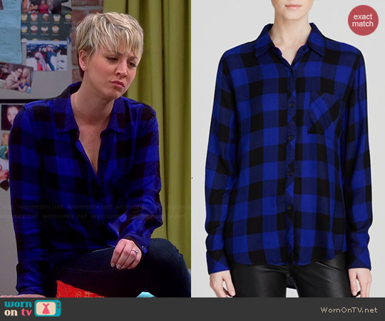 WornOnTV: Penny's blue and black checked shirt on The Big Bang ...