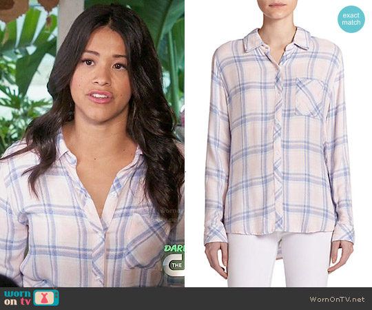 Rails Hunter Shirt in Pink Blue Melange worn by Gina Rodriguez on Jane the Virgin