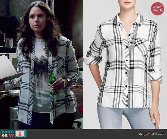Rails Hunter Plaid Shirt worn by Katie Lowes on Scandal