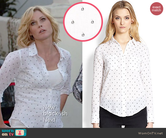 Rails Jesse Sailboat Print Shirt worn by Julie Bowen on Modern Family