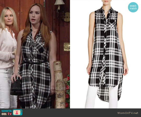 Rails 'Jordyn' Plaid Sleeveless Shirt worn by Camryn Grimes on The Young & the Restless