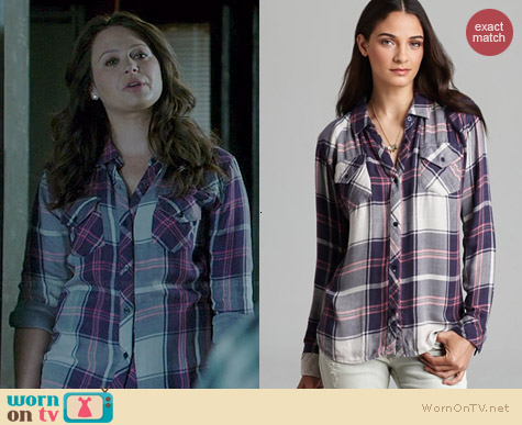 Rails Kendra Shirt worn by Katie Lowes on Scandal