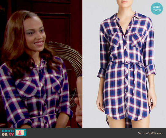 Rails Nadine Dress in Cobalt / Ruby worn by Reign Edwards on The Bold & the Beautiful