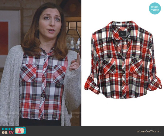 Rails Rian Shirt in Cranberry / Midnight worn by Chelsea Peretti on Brooklyn Nine-Nine