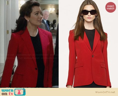 Ralph Lauren Black Label Nathaniel Jacket worn by Bellamy Young on Scandal