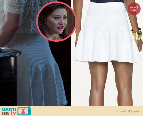 Ralph Lauren Black Label Ottoman Knit Flared Skirt worn by Emilie de Ravin on OUAT