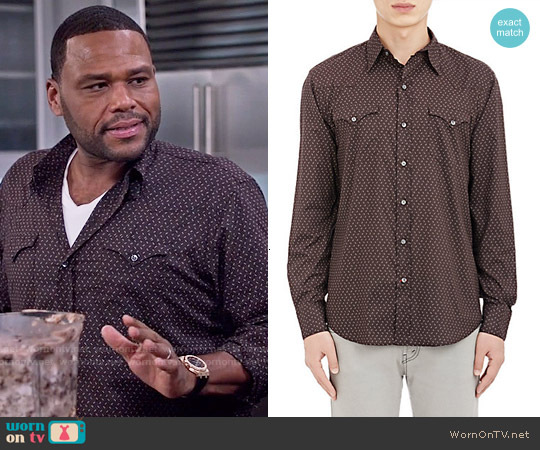 Ralph Lauren Black Label Western Shirt worn by Anthony Anderson on Blackish