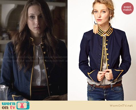 Ralph Lauren Denim & Supply Cavalry Jacket worn by Troian Bellisario on PLL