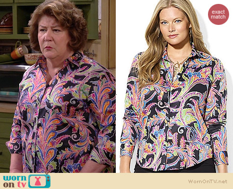 Ralph Lauren Cotton Paisley Shirt worn by Margo Martindale on The Millers