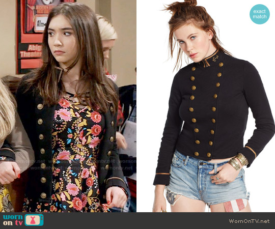 Ralph Lauren Denim & Supply Cropped Officers Jacket worn by Riley Matthews on Girl Meets World