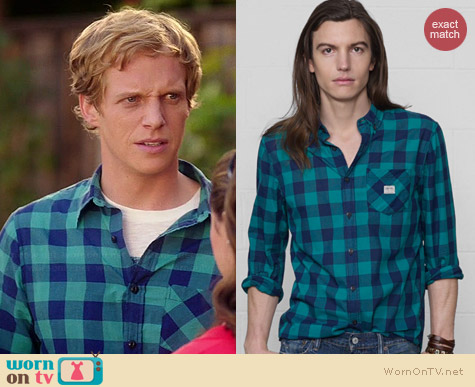 Ralph Lauren Denim & Supply Check Sport Shirt worn by Chris Greere on You're the Worst