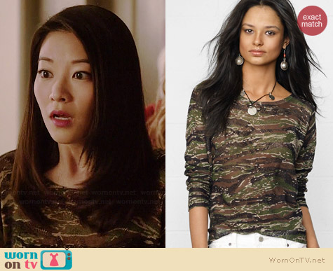 Ralph Lauren Denim & Supply Camo Pullover worn by Arden Cho on Teen Wolf