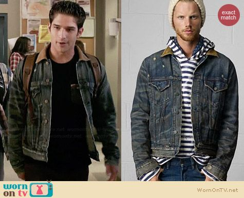 Ralph Lauren Denim & Supply Carson Trucker Jacket worn by Tyler Posey on Teen Wolf