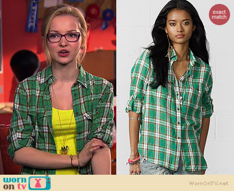 Ralph Lauren Denim & Supply Cedar Plaid Utility Shirt worn by Dove Cameron on Liv & Maddie
