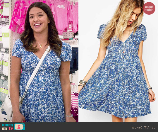 Ralph Lauren Denim & Supply Floral Button Front Dress worn by Gina Rodriguez on Jane the Virgin