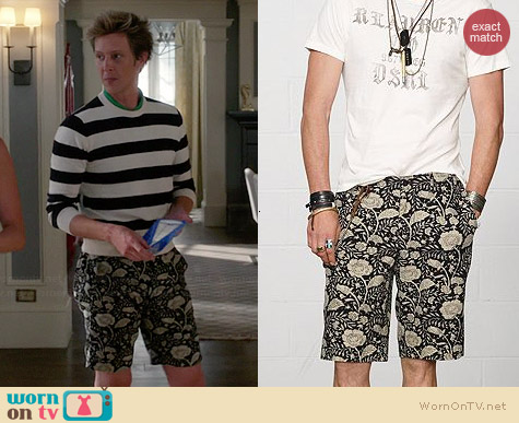 Ralph Lauren Denim & Supply Floral Canvas Shorts worn by Gabrielle Mann on Revenge