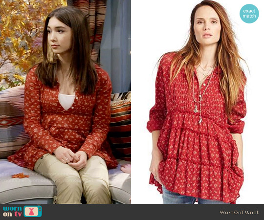 Ralph Lauren Denim & Supply Floral Gauze Tiered Tunic worn by Rowan Blanchard on Girl Meets World