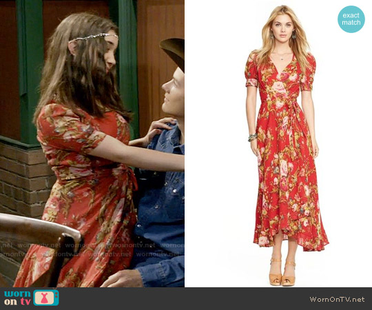 Ralph Lauren Denim & Supply Floral-Print Wrap Dress worn by Rowan Blanchard on Girl Meets World