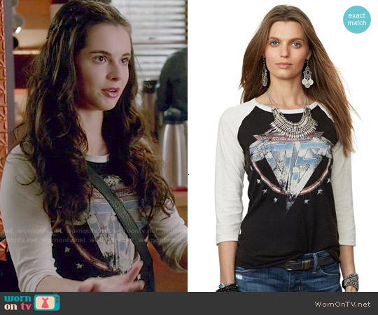 Ralph Lauren Denim & Supply Graphic Baseball tee worn by Vanessa Marano on Switched at Birth
