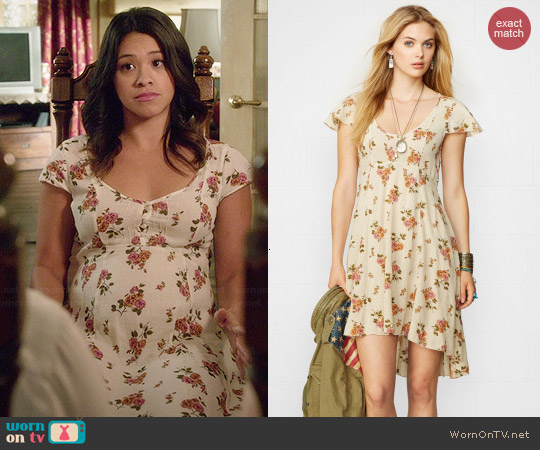 Ralph Lauren Denim & Supply High Low Floral Dress worn by Gina Rodriguez on Jane the Virgin