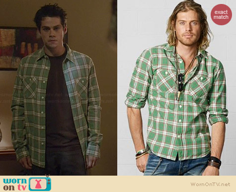 Ralph Lauren Denim & Supply Madras Ward Shirt worn by Dylan O'Brien on Teen Wolf